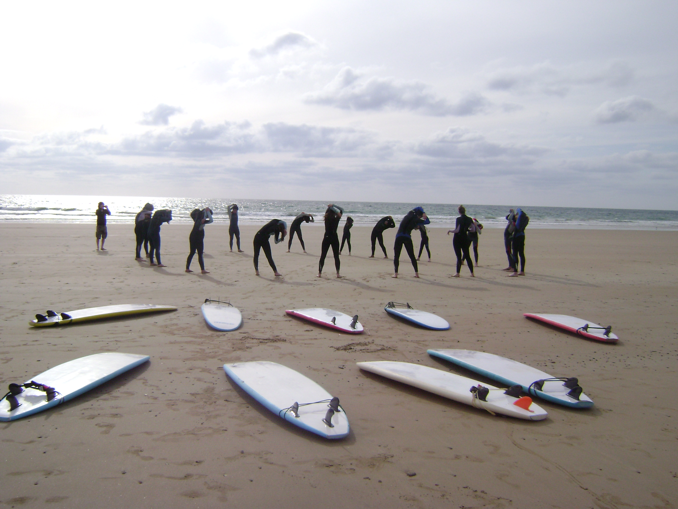Preparing for a surf lesson in Cadiz